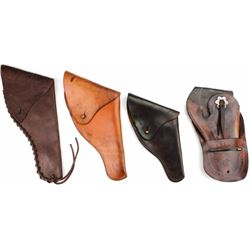 Collection of 4 holsters includes 3 flap holsters