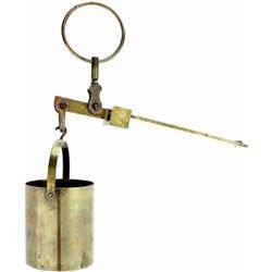 Antique brass Fairbanks grain scale with original