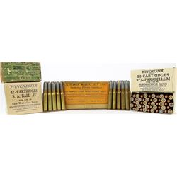 Collection of antique Winchester ammo includes