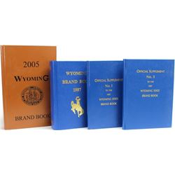 4 Wyoming brand books including 1897 with