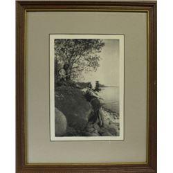 """The Hunters Ojibwa"" photogravure by Roland"