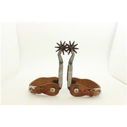 Gal leg spurs single mounted and inlaid
