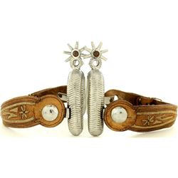 Maker marked Mexican spurs with piteado