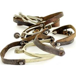 Collection of 3 pair spurs.