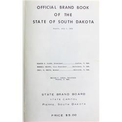 Collection of 3 brand books South Dakota 1940