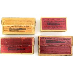 Collection of antique Winchester ammo