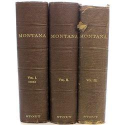 1921 3 volume Montana history books