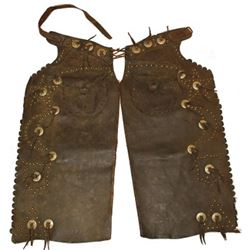 Early pair fancy batwing chaps unmarked