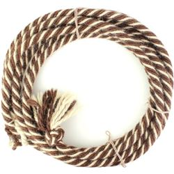 Nicely woven white and brown lead rope