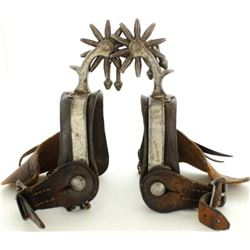 Pair star stamped Buermann spurs