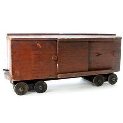 Wonderful hand made folk art box car