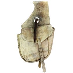 Unmarked pair leather saddle bags
