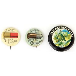 Collection of 3 antique pins includes Peters