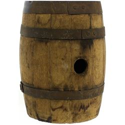 Civil War period small oak gun powder barrel