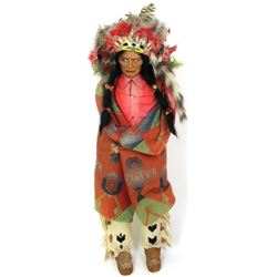 "Large 36"" tall  Indian Man Skookum Doll complete"