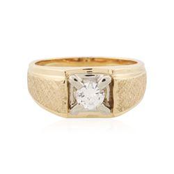 14KT Yellow Gold 0.34 ctw Diamond Ring