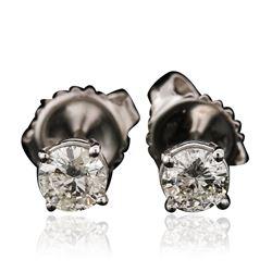 14KT White Gold 0.57 ctw Diamond Stud Earrings