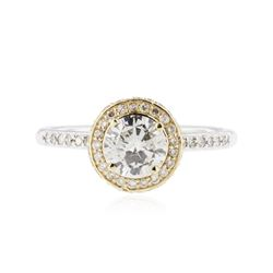 14KT Two-Tone Gold 1.29 ctw Diamond Ring
