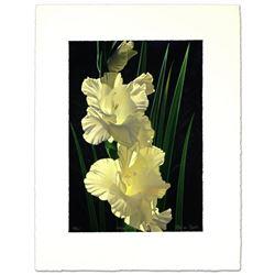White Gladiolas by  Brian Davis