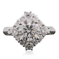 18KT White Gold 3.09 ctw Diamond Ring