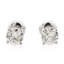 14KT White Gold 1.16 ctw Diamond Solitaire Earrings