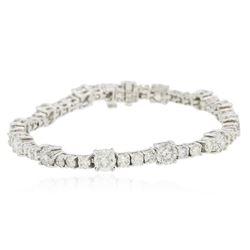 14KT White Gold 9.93 ctw Diamond Tennis Bracelet