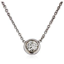 14KT White Gold 0.30 ctw Diamond Necklace