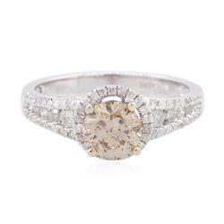 14KT White Gold 1.46 ctw Fancy Brown Diamond Ring