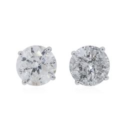 14KT White Gold 1.92 ctw Diamond Stud Earrings