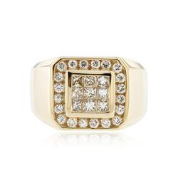 14KT Yellow Gold 0.89 ctw Diamond Ring