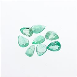 3.72 cts. Natural Pear Cut Emerald Parcel