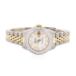 Ladies Rolex Two-Tone 1.15 ctw Diamond DateJust Wristwatch