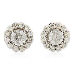 14KT White Gold 1.40 ctw Diamond Earrings