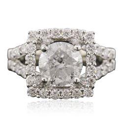 18KT White Gold 2.55 ctw Diamond Ring