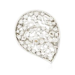 14KT White Gold 0.88 ctw Diamond Ring