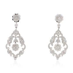 18KT White Gold 1.35 ctw Diamond Earrings