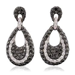 14KT White Gold 0.25 ctw Diamond Earrings