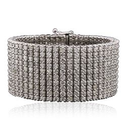 14KT White Gold 47.05 ctw Diamond Bracelet