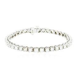 14KT White Gold 6.85 ctw Diamond Bracelet