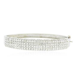 14KT White Gold 5.10 ctw Diamond Bracelet
