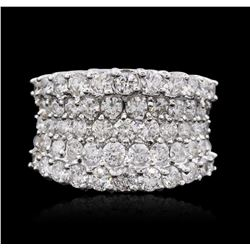 14KT White Gold 4.34 ctw Diamond Ring