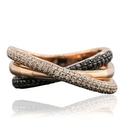 14KT Rose Gold 0.41 ctw Black Diamond Ring