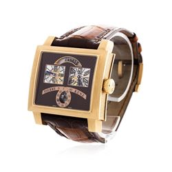 Pierre Kunz 18KT Rose Gold Retrograde Wristwatch