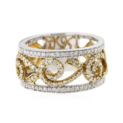 18KT Two-Tone Gold 0.71 ctw Diamond Ring
