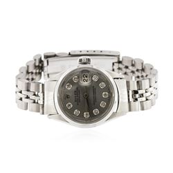 Ladies Rolex Stainless Steel Date Wristwatch