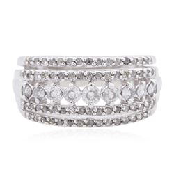 10KT White Gold 0.55 ctw Diamond Ring