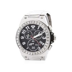 Aqua Master Stainless Steel Diamond Wristwatch
