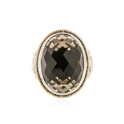 Sterling Silver 16.15 ctw Smokey Quartz