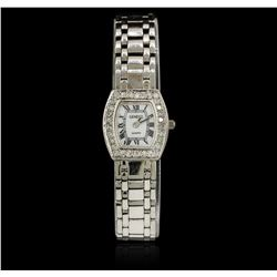Ladies Geneve 14KT White Gold Diamond Wristwatch