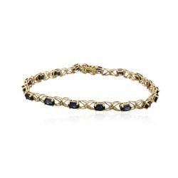 10KT Yellow Gold 3.00 ctw Sapphire Bracelet